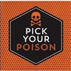 The Halloween Humor Poison Beverage Napkins feature a skull and crossbones along with the phrase Pick Your Poison. The orange and black color scheme coordinates with most Halloween decor. 16 2-ply paper napkins per package. Measure 5 inches square.