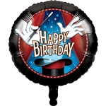 The Magic Party Metallic Balloon will delight your favorite little magician at their next birthday party. Balloon is printed with a magician's gloved hands saving a magic wand over their magic hat. Balloon ships flat; expands to 18 inches when inflated.