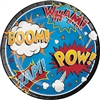The Superhero Slogans Dinner Plates are action-packed, to say the least, and the black outline gives the colors some nice pop. The plates measure 8 and 3/4 inches, so there's plenty of room for a bunch of crime fighting fuel! Comes eight per package.