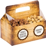 The Snack Server Box with Labels comes with a divider, making it it a great way to present multiple snacks at your next beer tasting party or picnic.