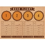 the Beer Flight Tasting Placemats are a great table accessory for your next beer tasting party! Printed areas for 4 different beers, and their corresponding tasting notes. Economical and disposable. 24 placemats per package. Printed one side.