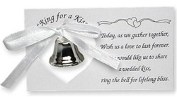Silver Wedding Bell on a Card (50/pkg)