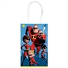 The Incredibles Kraft Bags are made of cardstock and measure 8 1/4 inches tall and 5 1/4 inches wide. They're printed with the heroic family. Contains 10 bags per package.