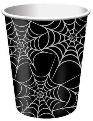 Spider Web Hot/Cold Cups (8/pkg)
