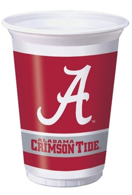 University of Alabama Plastic Cups (8/pkg)
