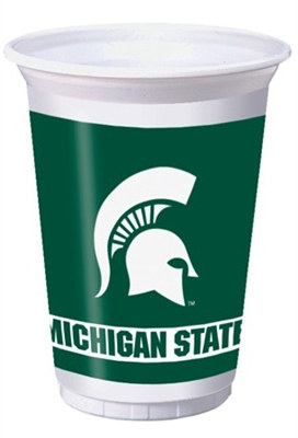 Michigan State University Plastic Cups (8/pkg)