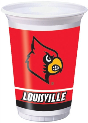 University of Louisville Plastic Cups (8/pkg)