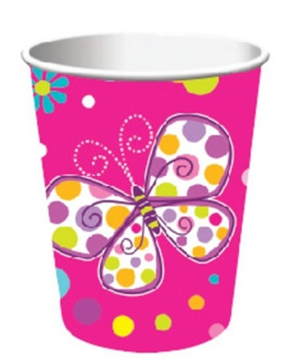 Butterfly Birthday Hot/Cold Cups (8/pkg)
