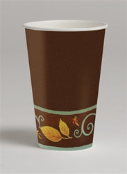 Autumn Scroll Hot/Cold Cups (8/pkg)