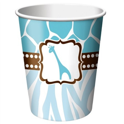 Blue Baby Safari Shower Hot/Cold Cups (8/pkg)