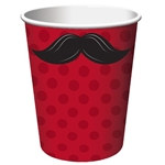 Mustache Madness Hot/Cold Cups (8/pkg)