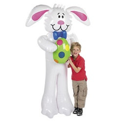Jumbo Inflatable Easter Bunny, 71 inches