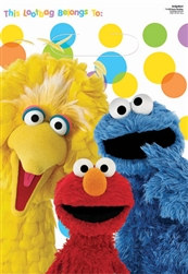 Sesame Street Party Loot Bags (8/pkg)
