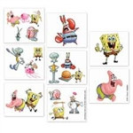 Spongebob Tattoos (16/pkg)