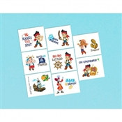 Jake and the Neverland Pirates Tattoos (16/pkg)