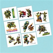 Teenage Mutant Ninja Turtles Tattoos (16/pkg)