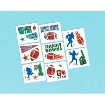 Football Tattoos, Pack of 16