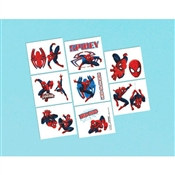 Spider-Man Tattoos (16/pkg)