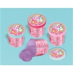Unicorns are magical and so is their poop! These little plastic containers of Magical Unicorn Glitter Poop is perfect for any unicorn theme party.  Each sealed plastic jar contains .7 ounces of either pink, blue, or purple glittered slime-like goo.