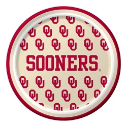 University of Oklahoma Dessert Plates (8/pkg)
