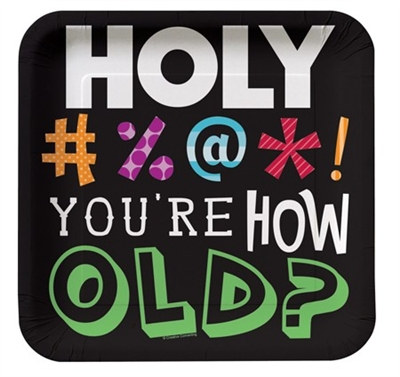 Holy Bleep! Birthday Dessert Plates (8/pkg)