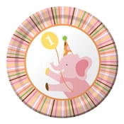 Girl Sweet At One Dessert Plates (8/pkg)
