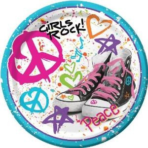 Girls Rock! Dessert Plates (8/pkg)