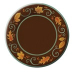 Autumn Scroll Dessert Plates (8/pkg)