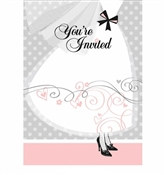 Elegant Wedding Invitations (8/pkg)