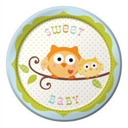 Happy Tree Baby Boy Dessert Plates (8/pkg)