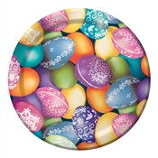 Decorative Eggs Lunch Plates (8/pkg)