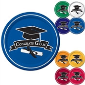 School Colors Graduation Paper Plates