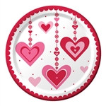 Heart Dazzler Lunch Plates (8/pkg)