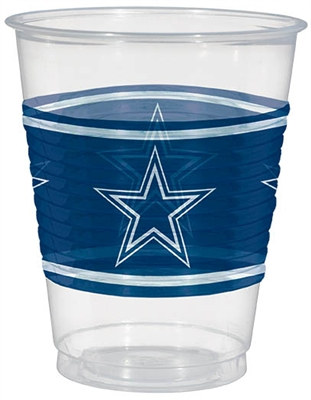 Dallas Cowboys Plastic Cups (25/pkg)