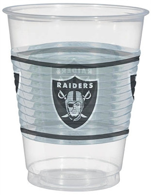 Oakland Raiders Plastic Cups (25/pkg)