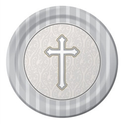 Cross Lunch Plates (8/pkg)