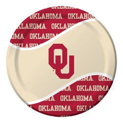University of Oklahoma Lunch Plates (8/pkg)