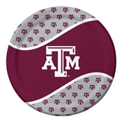 Texas A & M Lunch Plates (8/pkg)