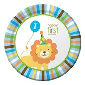 Boy Sweet At One Lunch Plates (8/pkg)