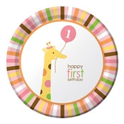 Girl Sweet At One Lunch Plates (8/pkg)