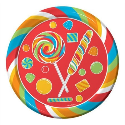 Sugar Rush Lunch Plates (8/pkg)