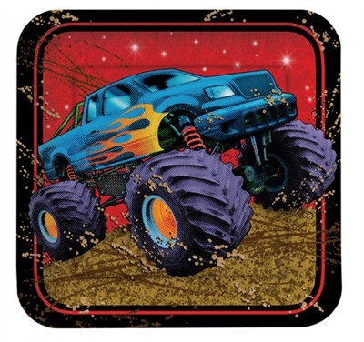 Monster Truck Lunch Plates (8/pkg)