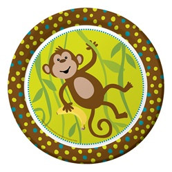 Monkeyin' Around Lunch Plates