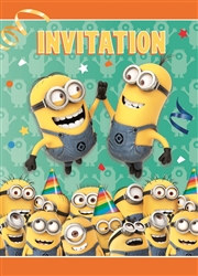 Minion Invitations (8/pkg)