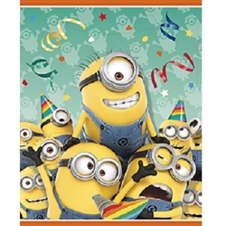 The Despicable Me Loot Bags feature a lively looking group of Minions, led by Stuart. Sporting party hats and tossing serpentines, they are ready to party! Colorful plastic bags measure 7.25 inches by 9 inches and contain 8 per package.