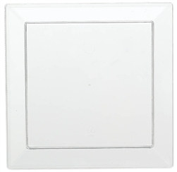 "Clear Square Appetizer Plates, 5"" (10/pkg)"