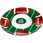 Plastic Football Chip And Dip Tray