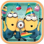 Minion Plates (8/pkg) featuring the adorable Minions.