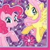 My Little Pony Beverage Napkins are printed with the magical Fluttershy and Pinkie Pie characters. Each colorful napkin opens to 10 inches by 10 inches. Sixteen 2-ply paper napkins per package.