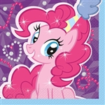 These My Little Pony Luncheon Napkins are colorfully printed with Pinkie Pie. The 2-ply paper napkins open to a generous size of 13 inches by 13 inches. Each package contains 16 napkins.